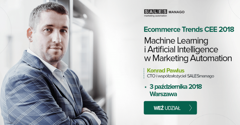 Artificial Intelligence i Machine Learning w Marketing Automation. Prelekcja Konrada Pawlusa w Warszawie