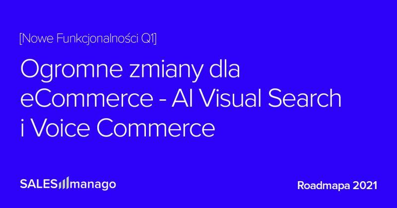 Q1 2021 Podsumowanie Roadmapy: Ogromne zmiany dla eCommerce: AI Visual Search i Voice Commerce