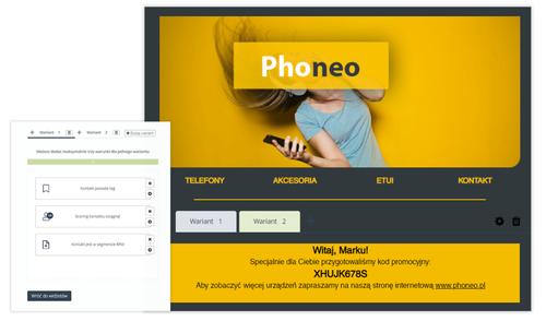 [Nowa Funkcjonalność]<br> Treści warunkowe – personalizuj wybrane widżety i sekcje wiadomości e-mail do określonych segmentów kontaktów lub konkretnych osób.