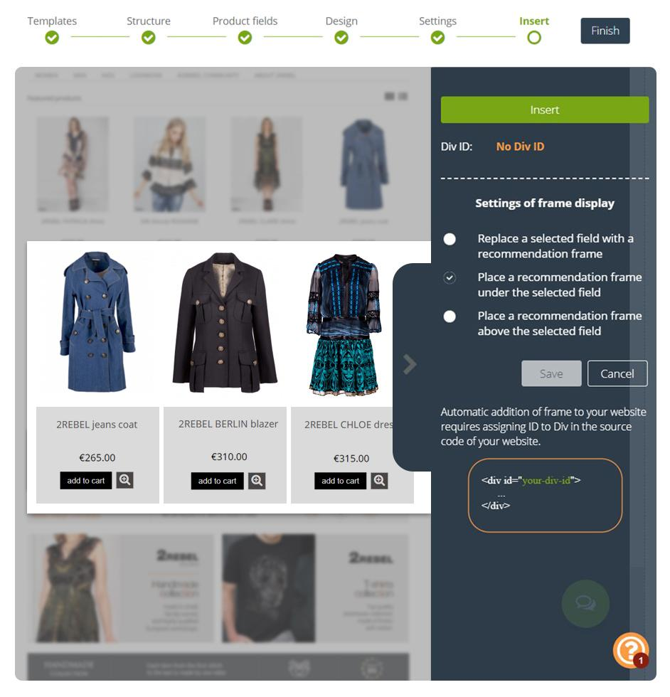 Nowe ramki rekomendacji produktowych na stronę WWW. Zarządzaj ramkami bezpośrednio z poziomu SALESmanago bez udziału IT.